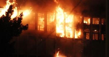 السيطرة على حريق العتبة من قبل الحماية المدنية