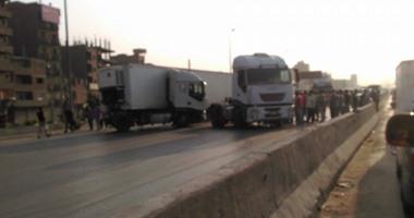 صحافة المواطن.. وقوع حادث سير على الطريق الدائرى بالمرج الجديدة