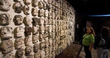 """علماء آثار يكتشفون """"جماجم"""" أسرى فى المكسيك ترجع للقرن 15"""