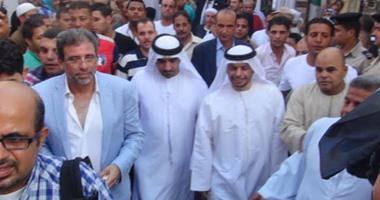 بالصور.. سفير الإمارات بمصر وخالد يوسف يزوران كفر شكر لحضور حفل خيرى