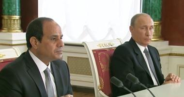 الرئيس عبد الفتاح السيسي وبوتين