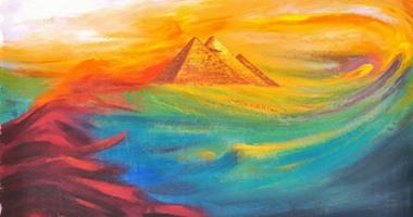 الفنان أحمد عبد الجواد يحتفى بمشروع قناة السويس الجديدة بلوحات من وحى المكان