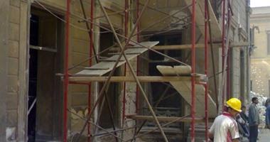 """""""الآثار"""": معدل ترميم قصر إسماعيل المفتش مناسب لسوء حالته الإنشائية"""