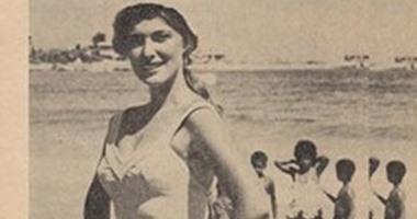 """شاهد.. مريم فخر الدين بـ""""المايوه"""" على أحد الشواطئ"""