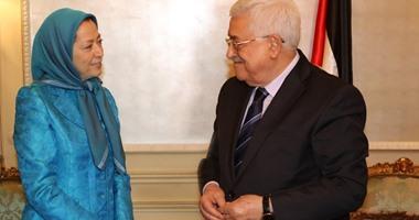 """إعلام إيران يشن هجمة شرسة ضد محمود عباس بعد لقاء زعيمة """"مجاهدى خلق"""""""