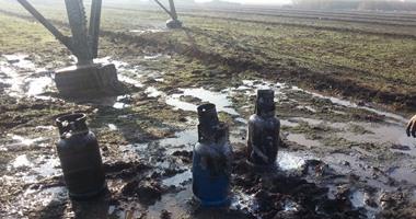 ننشر صور عملية إرهابية استهدفت تفجير برج كهرباء فى البحيرة