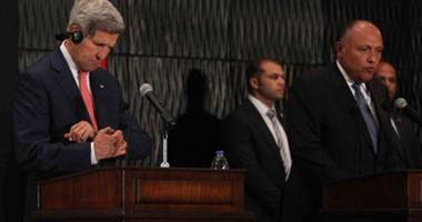 اخطاء وزير الخارجية الامريكى جون كيرى البرتوكولية فى مؤتمر اليوم