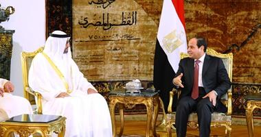 ولى عهد أبو ظبى يصل القاهرة للقاء الرئيس السيسي
