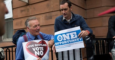 """""""لا"""" تتقدم على """"نعم"""" فى النتائج الأولية لاستفتاء إسكتلندا"""