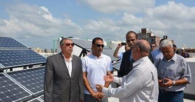 بالصور.. افتتاح أول عمارة سكنية تعمل بالطاقة الشمسية فى الإسكندرية