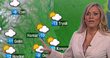 بالفيديو..مذيعة نرويجية تستعرض الطقس فى 33ساعة لتسجل أطول نشرة جوية