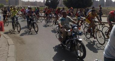 إقامة مارثوان الدراجات بجامعة المنصورة وسط إجراءات أمنية مشددة