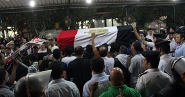 جنازة عسكرية لتشييع شهيدين من ضحايا مذبحة رفح بالمهندسين