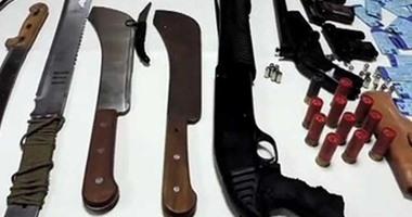 القبض على 5 عاطلين بحوزتهم أسلحة بيضاء فى حملة أمنية بالإسماعيلية