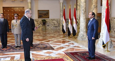 ننشر صور وزراء حكومة شريف إسماعيل خلال أداء اليمين أمام الرئيس السيسى