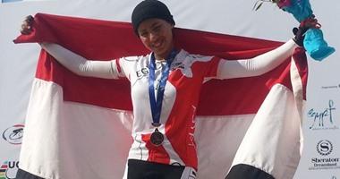 تأهل أول فتاة مصرية فى الدراجات لأوليمبياد البرازيل