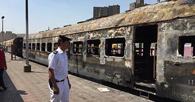 بالفيديو..السيطرة على حريق نشب داخل عربة قطار بمحطة سكك حديد رمسيس