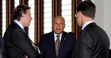 بالفيديو.. سامح شكرى يلتقى رئيس وزراء هولندا استعدادا لعقد جلسة مباحثات مع السيسى