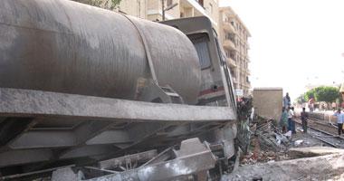 للمرة الثانية قطار شبين القناطر ـ القاهرة تخرج منه عربتان عن القضبان