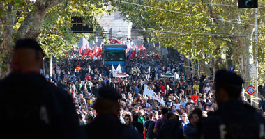 المظاهرات فى إيطاليا