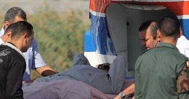 بالصور مبارك بطائرة هليكوبتر أكاديمية