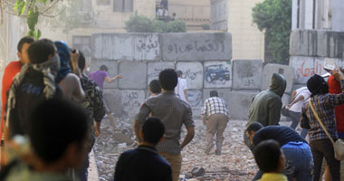 اشتباكات الأمن والمتظاهرين – صورة أرشيفية
