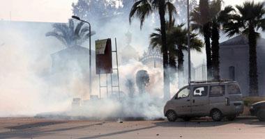 طلاب الإخوان بجامعة القاهرة يعتدون على لواء شرطة خلال الاشتباكات