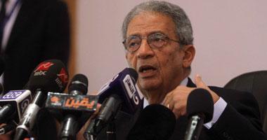 عمرو موسى رئيس الهيئة الاستشارية لحملة المشير عبدالفتاح السيسى