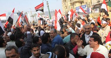مواطنون يحتشدون بميدان التحرير تأييدًا للجيش فى معركته ضد الإرهاب