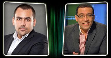 الكاتب الصحفى خالد صلاح والإعلامى يوسف الحسينى