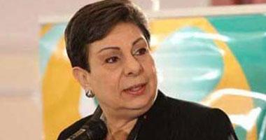 عضو اللجنة التنفيذية لمنظمة التحرير حنان عشراوى للإذاعة الفلسطينية الرسمية
