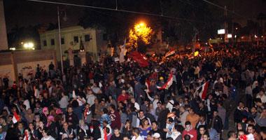 إصابة مؤيدى الرئيس مرسي بطلق