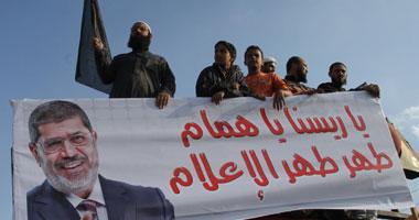 """استمرار اعتصام """"أبو إسماعيل"""" وسط أنصاره أمام الإنتاج الإعلامى"""