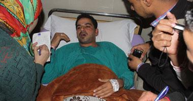 وزيرة الصحة تتفقد مصابى انفجار الأتوبيس بمستشفى التأمين الصحى