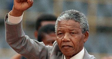 نيلسون مانديلا الزعيم الجنوب أفريقى الراحل