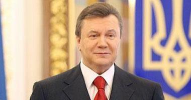 الرئيس الأوكرانى فيكتور يانكوفيتش<br>