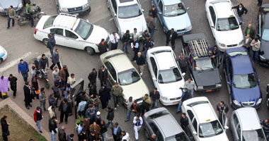 فوضى بشوارع المنصورة بسبب اعتصام