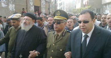 جنازة عسكرية مهيبة لشهيد شرطة عين شمس بمسقط رأسه