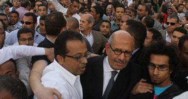 فيديو الإعتداء على دكتور البرادعى فى الاستفتاء