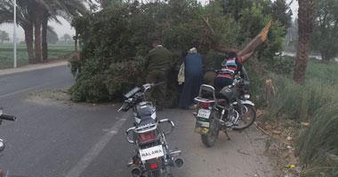 آثار الطقس السيئ على شوارع سوهاج