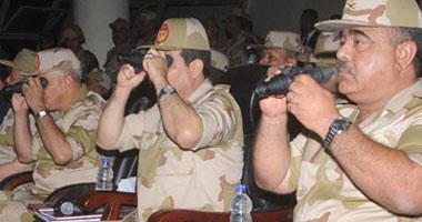 """السيسى يشهد المناورة """"نصر 9"""" بالذخيرة الحية بالجيش الثانى"""