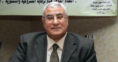 صور رئيس الجمهورية الجديد المستشار عدلي محمود منصور