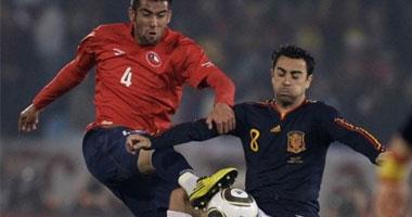 """بالفيديو.. أسبانيا تهزم تشيلى """"2-1"""" وتتجنب البرازيل S6201025233715"""