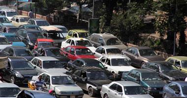 شلل مرورى يخيم على شوارع القاهرة والجيزة مساء اليوم