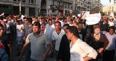 مسيرة ميدان التحرير للتنديد بمقتل