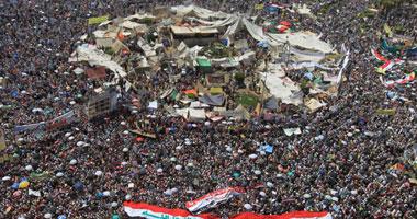 معتصمو التحرير يتناولون الفول فى سحور أول ليالى رمضان S7201130181354
