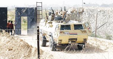 جانب من انتشار القوات المسلحة فى سيناء ـ أرشيفية