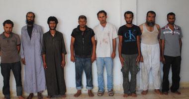 ننشر صور العناصر الإرهابية الثمانية المقبوض عليها بشمال سيناء