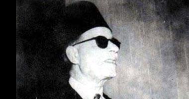 37 عاماً على وفاة طه حسين ومازالت أفكاره تضئ العالم Taha-Hussein5200813101254