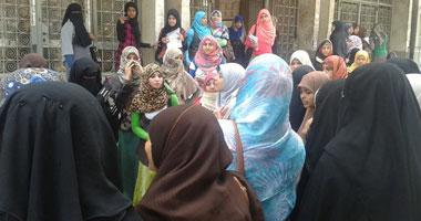 تظاهرة طالبات الإخوان بأزهر أسيوط